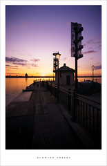 Glowing embers (Parallax Corporation) Tags: sunset sky liverpool river evening jetty mersey albertdock