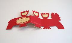 DSCF5044 (Elsita (Elsa Mora)) Tags: christmas paperart card redandwhite papercraft holidaycard papercutout elsita papercutting elsamora