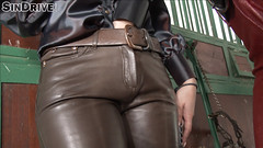 inside leather (gitblp) Tags: sexy leather lesbian shiny pants crotch jeans trousers leder cuero cuir