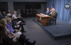160229-D-PB383-055 (Chairman of the Joint Chiefs of Staff) Tags: pbr marines press chairman pressconference secdef jointstaff ashcarter joedunford generaldunford josephfdunford 19thcjcs josephfdunfordjr