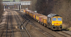 GBRf Class 66/7 no 66727 at Tupton on 29-02-2016 with the Doncaster to Toton Engineers Train (kevaruka) Tags: uk greatbritain winter england color colour colors train canon outdoors flickr colours unitedkingdom outdoor derbyshire transport trains gb 5d february frontpage britishrail chesterfield dbs freighttrain 2016 freightliner class66 ews networkrail gbrf 66727 tupton dbschenker canon5dmk3 5dmk3 canonef100400f4556l 5d3 5diii thephotographyblog canoneos5dmk3 tuptonbridge dbreilfreight ilobsterit