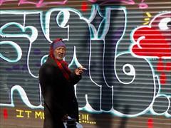 Kensington Market (- Jacques) Tags: street toronto man graffiti smoke kensington lx5