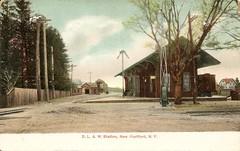 D, L & W RR Station, New Hartford, NY (CNYrailroadnut) Tags: railroad ny rr western delaware erie utica lackawanna susquehanna newhartford lackawannaandwesternrailroad