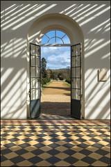 Wrest Park Orangery Doorway (Darwinsgift) Tags: park color english heritage nikon voigtlander 28mm bedfordshire doorway f28 sl2 orangery skopar aspherical wrest d810 slii
