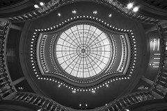 Overwatch (McQuaide Photography) Tags: city roof light shadow urban blackandwhite bw holland building geometric netherlands monochrome dutch lines amsterdam fashion shop retail architecture zeiss shopping circle mono licht blackwhite europe pattern geometry availablelight interior sony details skylight nederland wideangle indoor ceiling departmentstore dome handheld winkel inside form fullframe alpha ornate hm shape 16mm nationalmonument circular stad kalverstraat 1889 noordholland detailed c1 repeating flagship wideanglelens flagshipstore 1635mm northholland a7ii groothoek phaseone variotessar captureone rijksmonument mirrorless sonyzeiss mcquaidephotography ilce7m2 captureonepro9