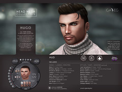 NEW !!! GA.EG HUGO Mesh Head & Addons - Released !!! (Gael Streeter - Gaeline Creations (AO & Fashion)) Tags: life portrait man male beauty face ga de skins lashes mesh skin head avatar manly omega makeup beards avi sl cabeza second lipstick kirsten cosmetics personnes personne materials cabea malla components visage rigged cosmetic enhance enhancement creations brow eg customization fitted malha ellegance gaeg hairbases gaeline eyeshsadow elleetgance