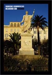 Bastia - Maison Agostini et statue de Napolon en Empereur romain (Florentin Bartolini, statue inaugure en 1854), sur la Place Saint-Nicolas (Images de Corse - Sylvain Guillaumon) Tags: statue corse corsica bastia napolon korsika bartolini placesaintnicolas sylvainguillaumon maisonagostini