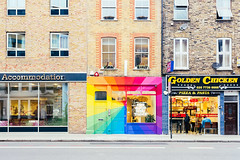 One Good Deed Today, London (pineapplebun) Tags: uk england london architecture rainbow europe unitedkingdom shoreditch storefront nikond810 1635mmf4gedvriiafs onegooddeedtoday ogdt