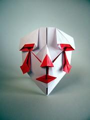 Clown Mask 2 - Hideo Komatsu (Rui.Roda) Tags: 2 two face origami mask clown dos payaso papiroflexia komatsu rostro rosto palhao visage masque pagliaccio mscara dois hideo papierfalten