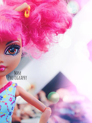 Pink  (MHMPhotography) Tags: doll danceclass dollphotography howleen monsterhigh howleenwolf monsterhughdoll