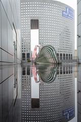 La Dfense (Davit Khutsishvili) Tags: city bridge paris reflection japan architecture nikon ladefence d5100 davitkhutsishvili dkhphoto