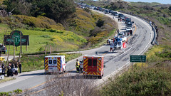 Highway 1 accident (ofarrl) Tags: california usa accident ambulance helicopter highway1 paramedic westcoast pescadero anonuevo gazoscreek sanmateocounty highwaypatrol emergencyservice sanmateocountysheriff stanfordlifeflight lahondafiredepartment