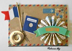 2016 - 52 Week Challenge (n2photos2009) Tags: paris art atc artisttradingcard paper words map flag postcard passport challenge rmay n2photos