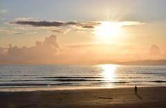Portrush Shadow (skippyjon2010) Tags: ocean uk ireland sunset shadow sea cloud beach clouds sand atlantic portrush antrim