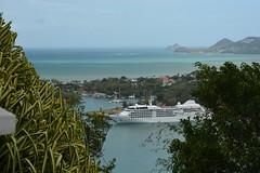 A glimpse through the vegetation. (vbvacruiser) Tags: cruise vacation ship caribbean stlucia castries silversea silverwind