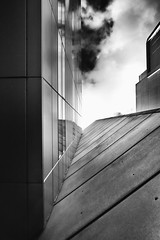 I Cant Hold Back - London City Office Life (Simon & His Camera) Tags: city sky urban blackandwhite bw cloud building london tower texture window monochrome lines vertical skyline architecture office outdoor vertigo lookingup simonandhiscamera