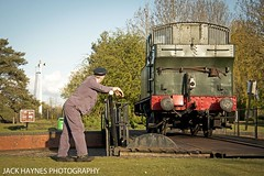 Slow spin on the table. (Jack Haynes Photography) Tags: heritage train photography events centre great railway steam western timeline british locomotive didcot oxfordshire charter preservation 1450