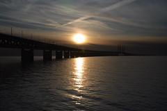 DSC_5359 (kalubro) Tags: sunset sky cloud water denmark shadows himmel bro vatten brigde solnedgng skugga moln resundsbron swe