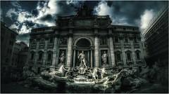 Palazzo di Poli e Fontana di Trevi (lefotodiannae) Tags: roma italia trevi di palazzo fontana hdr poli lefotodiannae