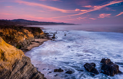 Remembering California (satosphere) Tags: california longexposure sunset us unitedstates pacificocean pigeonpoint pescadero pacificcoast sr1 pigeonpointlighthouse pigeonpointlighthousestatehistoricpark