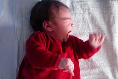 Anger (gornabanja) Tags: family baby nikon sad d70 crying newborn scream angry cry emotions upset