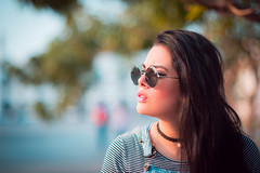 (Isai Alvarado) Tags: street pink light portrait urban woman cinema blur hot cute sexy film girl fashion movie glasses daylight hall model nikon focus dof bokeh ceci stock 85mm cine lips cap cecilia lovely cinematic eyebrows alvarado softlight d800 fotografia alvarado isai