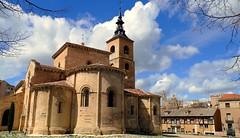 Iglesia de San Milln (Segovia) (alfonsocarlospalencia) Tags: azul san alfonso abril catedral iglesia el segovia nubes campanario xi joya ramas siglo doa urraca milln ciprs i batallador preromnico bsides