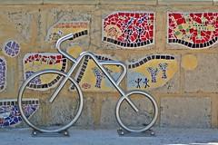 Perth, Mullaloo - Bicycle & Ceramic Murals (zorro1945) Tags: sculpture art bicycle mural ceramics oz mosaic australia tiles perth wa publicart westernaustralia metalsculpture mullaloo ceramicmural