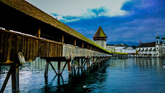 Chapel Bridge, Lucerne (dhingrab) Tags: switzerland lucerne kapellbrcke