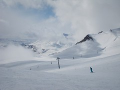 just a view (miradel) Tags: wild sky people panorama mountain snow ski mountains up fog clouds way georgia fun person spring skiing view path great joy down fresh resort clear just simplicity persons simple freshness sakartvelo gudauri wildness
