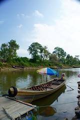 (bob P-&-S) Tags: morning travel trees sky nature clouds umbrella river boat market bluesky thai local hdr beautifulview clearsky kelantan beautifulday skyporn visitmalaysia travelgram instanature instatravel naturegram