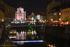 Ljubljana by night (Matteo Liberati) Tags: river slovenia ljubljana eslovenia ljubljanica lubiana