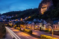Idar Oberstein (fadenfloh) Tags: city church night lights nacht stadt verkehr idar lichter oberstein felsenkirche