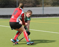 Sarah getting in low and hard to dispossess the Cork Harlequins forward (Greenfields Hockey Club) Tags: hockey cork connacht quins harlequins greenfields dangan ihl irishhockeyleague greenfieldshockeyclub irishhockey connachthockey hockeygalway corkharlequins