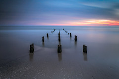Rule Of Thirds (Luca Libralato) Tags: longexposure sunset sea seascape beach water clouds reflections pier sand ndfilter tamron1735 gnd libralato canoneos6d ndhardgrad ndsoftgrad lucalibralato gndfilterhard gndfiltersoft