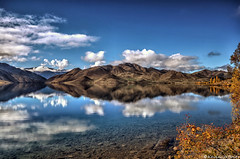 The shores of Benmore (Kevin_Jeffries) Tags: autumn newzealand cloud lake reflection tree nature water beauty interesting bush nikon scenery rocks peace scenic tranquility hydro serene majestic stillness tranquil magnificent benmore d90