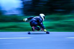 Longskate (frfourrier) Tags: colour leather sport speed canon colours wheels helmet longskate skate 5d pyrenees