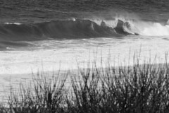 Tall Waves at Nauset Light Beach (brucetopher) Tags: ocean sea blackandwhite bw white storm black beach monochrome weather blackwhite surf waves wind wave gale