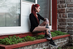... (la.churri) Tags: color mujer nikon gente retrato asturias carol musa pelirroja blessed tatuajes 2016 d90 nikkor35mm