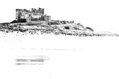 Bamburgh Castle (GaryJohn) Tags: blackandwhite castle coast pentax northumberland k5 bamburghcastle garyjohn