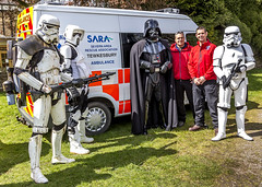 SARA, Severn Area Rescue Association, with Darth Vader and the Star Wars Stormtroopers. (Christopher Smith1) Tags: show uk rescue house holiday horizontal rural forest landscape star sara day break with arms time stormtroopers dean disney gloucestershire lucas severn darth area leisure fi recreation wars vader activity past speech productions sci weapons coleford association puzzlewood