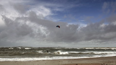 those moments when we become one with the elements (lunaryuna) Tags: sea sky panorama seascape storm beach beauty weather wales clouds season landscape coast spring wake waves shore elements lunaryuna cloudscape kitesurfers northwales angleseyisland seasonalwonders rhosneigrwestbeach