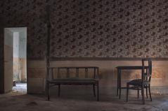 Le assenze lasciano segni (eLe_NoiR) Tags: decorations abandoned chairs decay forgotten urbanexploration decadence ue urbex abandonedplaces abbandono abbandonato elenoir