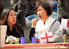 `1655 (roll the dice) Tags: old uk family girls portrait england people urban music food hot sexy london art classic westminster canon asian lunch japanese eyes couple pretty natural drink candid flag chinese strangers streetphotography trafalgarsquare straw shakespeare patriotic pride flags chip westend sw1 londonist saintgeorgesday feaststgeorge