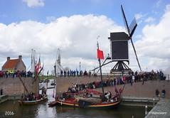 Zeeslag  De  Vrede van Heusden (ditmaliepaard) Tags: haven sony molen schepen heusden opdefiets a6000 zeeslag devredevanheusden