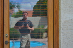 JJJitters (MPnormaleye) Tags: door camera wood house distortion selfportrait reflection strange 50mm weird experimental utata blinds slats shaky bizarre selfie utata:project=tw523