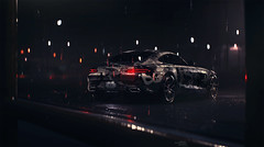 AMG GT (Mikhail Sharov) Tags: auto wet car weather sport night photoshop mercedes outdoor racing mercedesbenz vehicle retouch needforspeed amg nfs
