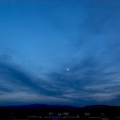 The moon of Florence (trovado73) Tags: blue sunset sky moon clouds dreams firenze magicmoments