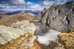 Garbh Bheinn ice pool (OutdoorMonkey) Tags: mountain ice water rock outside scotland countryside scenery view outdoor viewpoint corbett ardgour garbhbheinn