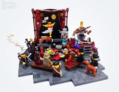 The Clockwork Show (burningblocks) Tags: robot dance lego stage entertainment empire ottoman middle eastern mech steampunk moc